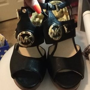 Michael Kors .. Open toe black high heels 8 new